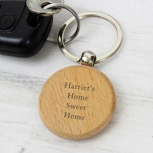 móc chìa khóa bằng gỗ Beech